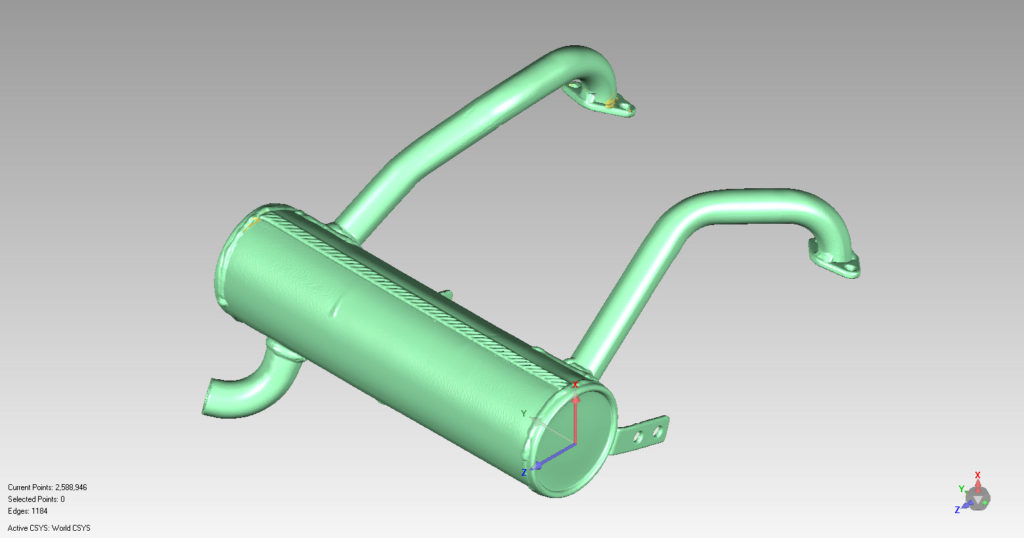3D Laser Scanned Custom Muffler
