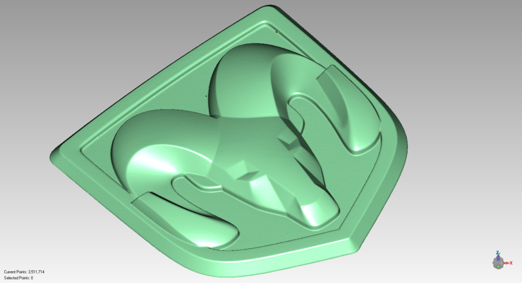 RAM Emblem Scan Data to NURBS for CNC Machining